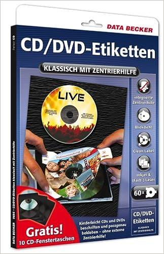 Perfect Cd Dvd Etiketten Klassisch Mit Positionier Hilfe Amazon Co