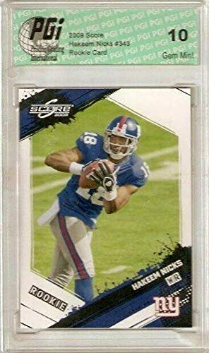 Hakeem Nicks 2009 Score NY Giants WR Rookie Card PGI 10 - Unsigned Football Cards (Hakeem Nicks Rookie Card)