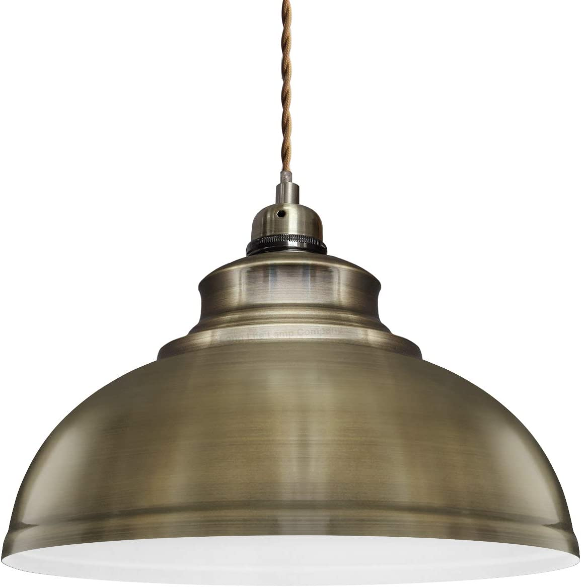 Modern Vintage Antique Brass Pendant Light Shade Industrial Hanging Ceiling Light Ideal For Dining Room Bar Clubs Restaurants Amazon Co Uk Lighting
