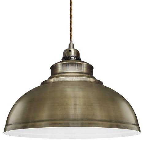 Modern Vintage Antique Brass Pendant Light Shade Industrial Hanging