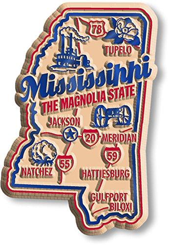 Premium State Map Magnet - Mississippi