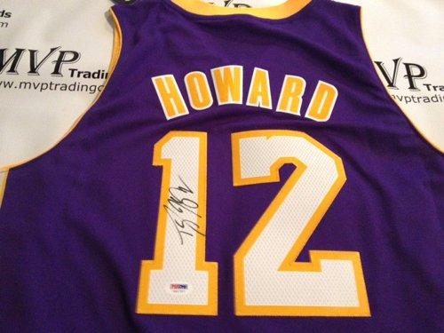 PSA/DNA Authentic Dwight Howard Autograph Los Angeles Lakers Purple Jersey