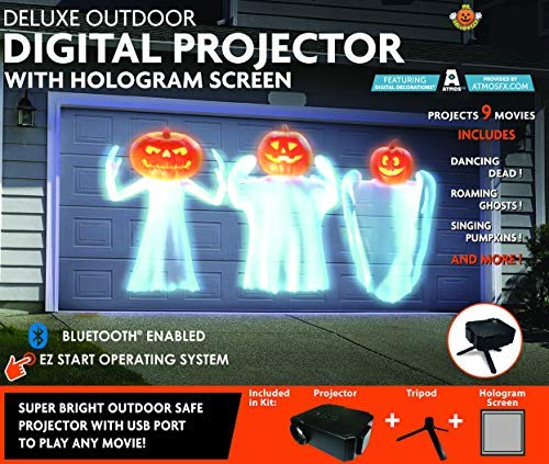 Mr. Christmas Deluxe Outdoor Digital Projector with Hologram Screen