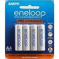 Baterías recargables precargadas de NiMH Sanyo Eneloop AA - Paquete de 4 (descontinuado por el fabricante)