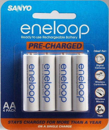 - Sanyo Eneloop AA NiMH Pre-Charged Rechargeable Batteries - 4 Pack (Discontinued by Manufacturer)