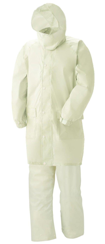 スミクラ 透湿レインスーツ リュック型 全2色 全6サイズ 上下スーツ アイボリー EL 防水透湿 収納袋付き 反射テープ付き [正規代理店品] B019RVPZBG EL|アイボリー アイボリー EL