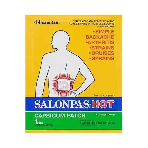 Salonpas Hot Capsicum Patch 5.12 X 7.09 (Pack of (Salonpas Hot Capsicum Patch)