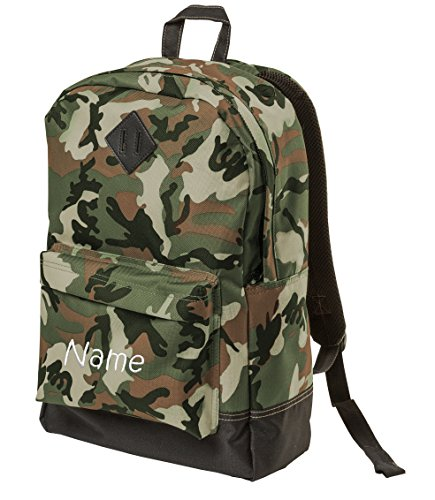 Personalized District Retro Backpack, Camo with Embroidered -