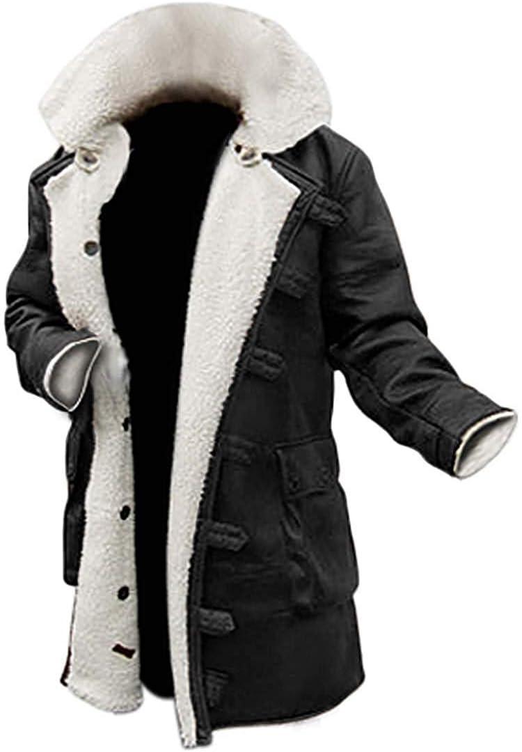Blingsoul Shearling Leather Coats للرجال - Swedish Bomber Leather Jacket Fur Coat