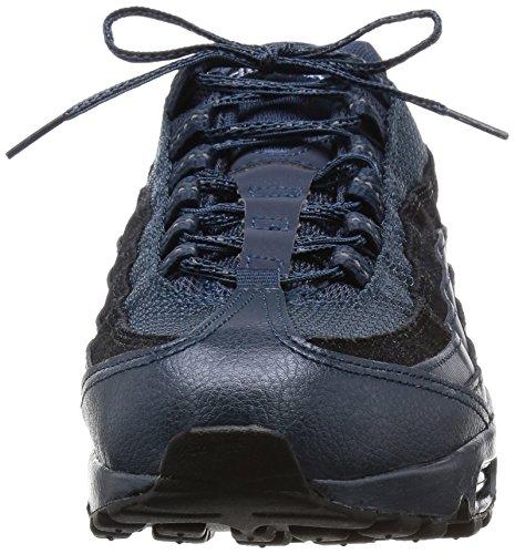 [807443-900] Nike Air Max 95 Premium Kvinna Gymnastikskor Nikemtlc Arsenal Nvy / Svart Sqdrn Blm Metallisk Hematit / Svart / Antracit