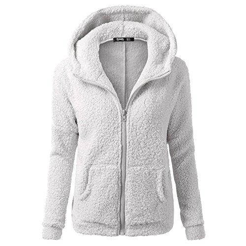 Sweatshirt Cardigan Cappotto Donne con Cappotti Felpa Coat Ragazza Elegante Inverno Zip Casual Giacca Sportivo 5 Felpa Outwear Autunno JLTPH Flanella Cappuccio Parka TqOdSPS