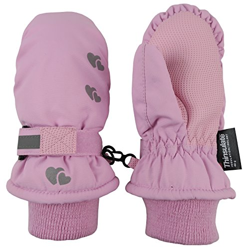 Large Product Image of N'Ice Caps Kids Thinsulate Waterproof Reflector Winter Snow Ski Mittens