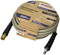 Generac 6618 Quick Disconnect Pressure Washer Hose, 50-Feet x 3/8-Inch, Grey