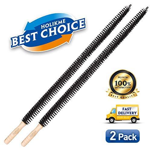 Holikme Dryer Vent Cleaner Kit 2 Pack Dryer Lint Brush Vent Trap Cleaner Long Flexible Refrigerator Coil Brush 30 Inch (Dryer Vent Lint Brush)