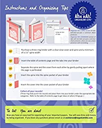Ahh Hah! Organizer Kit - Personal Finance: Index Tabs for Three-ring Binder with Cover