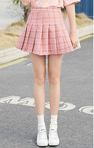 DEED Printemps Et t Un Mot Demi-Longueur Jupe Plisse Chic Taille Haute Ins Super Feu C