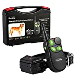 Pettom Electric Dog Shock Collar 600 Yards Remote Dog Training E-collar with Beep/Vibration/Shock Rechargeable Submersible Train up to 2 dogs