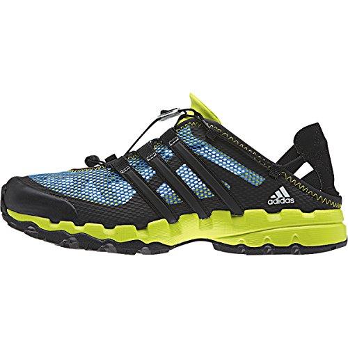 Adidas Hydroterra Shandal Sport Sandal Sneaker Shoe - Solar Blue / Black / Semi Solar Yellow - Mens - 11