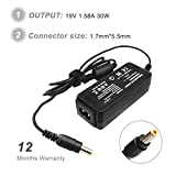 CIHA 19V 1.58A 30W Laptop AC Adapter Charger for Acer Aspire One ZG5 A110 A150 D250 D150 PA-1300-04 A150-1006 D255 D255E ZG5 ZG8 ZA3 KAV60 NAV50 1810TZ ADP-30JH B PA-1300-04 LC.ADT00.005