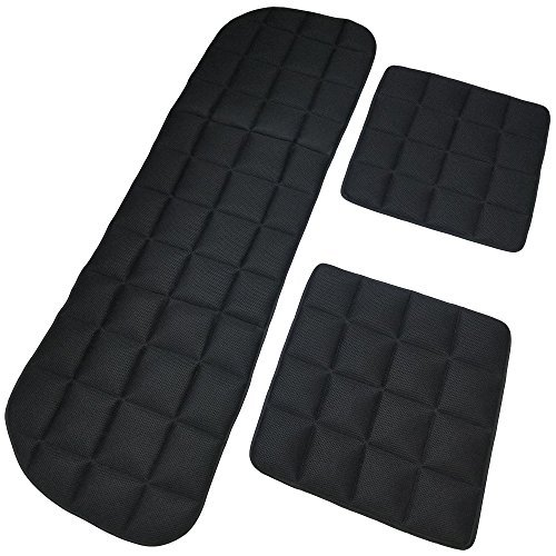 - DGQ Breathable Car Interior Seat Cushion Black Non-Slip 3+2 Universal Fit Full Set Car Seat Covers Pad Mat for Auto Supplies Office Chair with Bamboo Charcoal