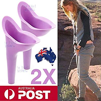 Portable Female Ladies Woman She Urinal Urine Wee Funnel Camping Travel Loo 2x