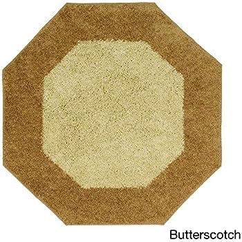 Amazon Com Shag Octagon Mat 6 X 6 Beige Golden Brown