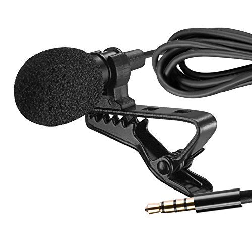 Neewer Lavalier Recording Condenser Mic, Mini Hands Free Clip-on Lapel Compatible with Apple iPhone Android & Windows Smartphones, Youtube, Stage Performance, Video Recording, Live Streaming