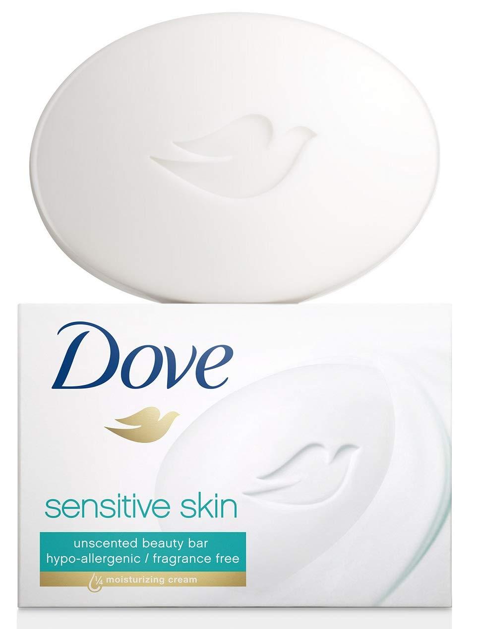 Dove Beauty Bars Sensitive Skin, 12 Count, 3.52 Oz / 100 Grams Each