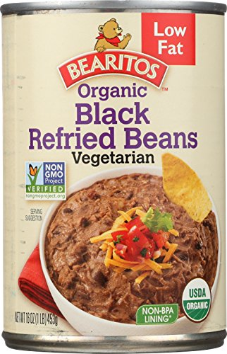 - Bearitos Low Fat Refried Black Beans, 16 Ounce (Pack of 12)