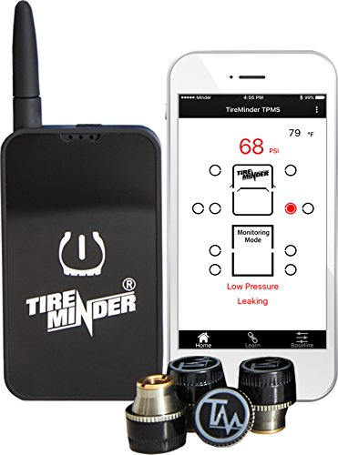 TireMinder Smart TPMS with 4 Transmitters for RVs, MotorHomes, 5th Wheels, Motor Coaches and ()
