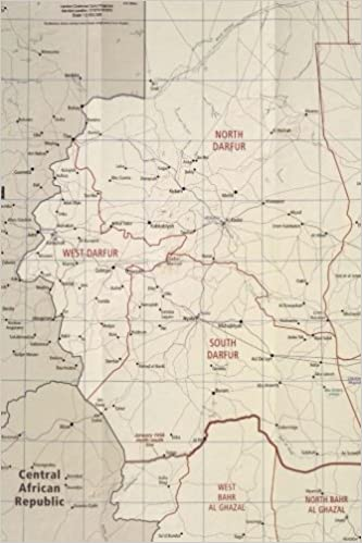 A Map of Darfur Region in Sudan, Africa Journal: Take Notes, Write ...