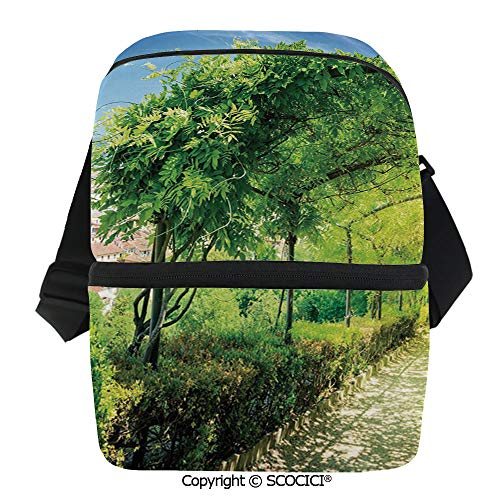 SCOCICI Insulated Lunch Cooler Bag Boboli Gardens in Florence Italy Famous Natural Landmark Tourist Attraction Reusable Lunch for Men Women Heat Insulation,Heat Protection -
