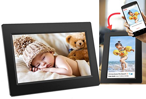 Denver WiFi Digital Photo Frame 10.1 Inch, iPhone & Android App, 8GB Storage And SD Card Back Up, PFF-1010