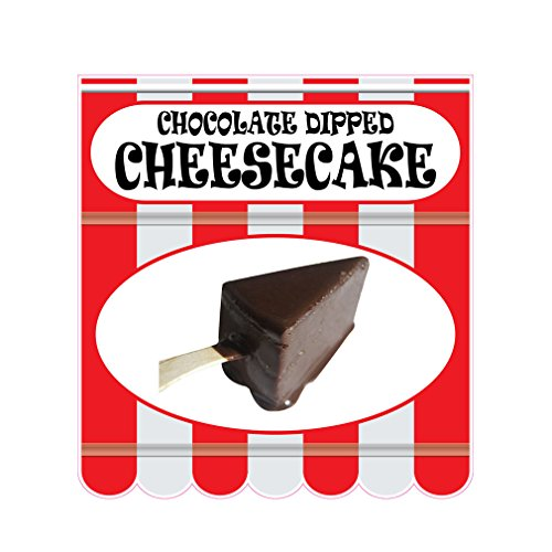 Chocolate Dipped Cheesecake Concession Restaurant Food Truck Die-Cut Vinyl Sticker 18 inches Chocolate Dipped Cheesecake