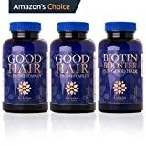 Hair Growth (COMBO PACK) + Biotin Booster Natural Formula for Men and Women - Free Hair Care eBook, For All Hair Types, 180 Vegan Capsules