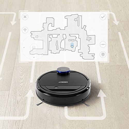 ECOVACS OZMO Smart Robotic Carpet, Pet Hair, with Intelligent Mapping, OZMO Adaptive Floor Sensing Compatible with