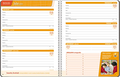 Student Planner 2016 - 2017 School Year Planner Elementary School Content 8.5'' x 11'' by School Datebooks (Image #9)