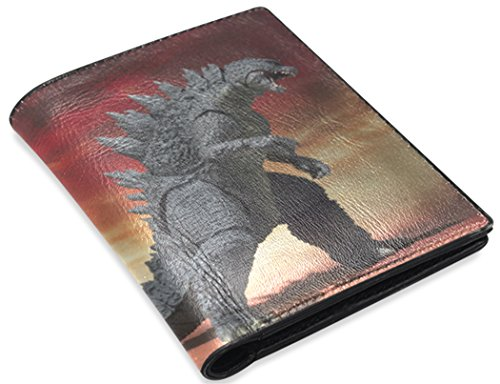 Godzilla Print Men's Leather Purse/Wallets With Card Slots.