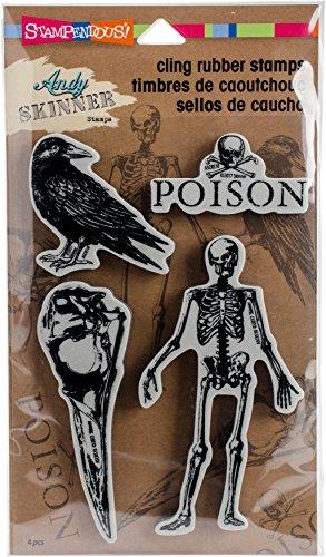 (STAMPENDOUS Andy Skinner Jumbo Birds and Bones Stamp Set)