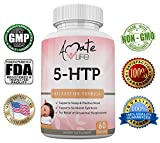 Cheap Amate Life 5-HTP 100 mg, Natural Sleep Aid Supports Anxiety Relief and Mood Enhancement- Mood Booster Serotonin Dietary Supplement for Positive Mood & Healthy Sleep – 60 Capsules