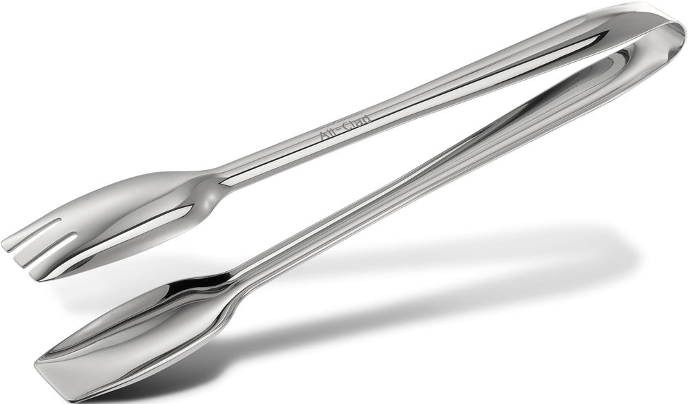All-Clad T234 Stainless Steel Cook Serving Tongs, Silver by All-Clad