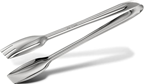 all clad t234 stainless steel cook serving tongs silver - Kitchen Tongs