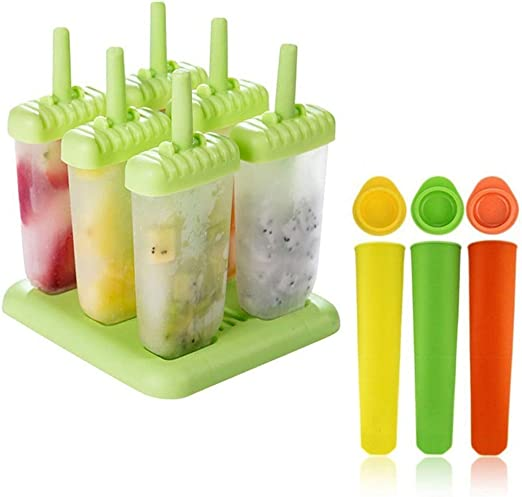 Molde para helados | Molde de polo de helado de 6 celdas + molde ...