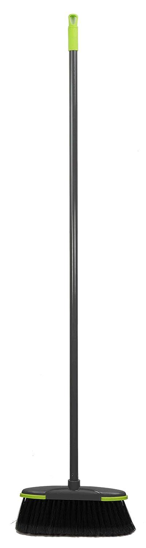 Home Basics Brilliant Collection Long Handled Broom, Grey (Broom) PB41509