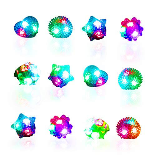 Glow Rings LED Party Favors for Kids - Light Up Jelly Rings Glow in The Dark Party Supplies, LED Finger Lights and Rave Accessories (36pk Multicolor)]()