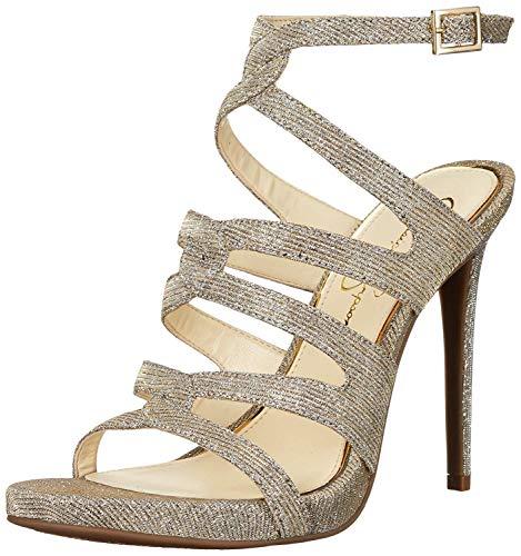 Jessica Simpson Women's REYSE Heeled Sandal, Gold Mutli, 6 Medium US