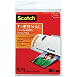 Scotch Thermal Laminating Pouches, 5 Inches x 7 Inches, 80 Pouches