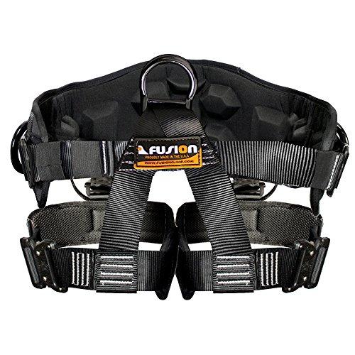 Fusion Climb Spartacus Heavy Duty Half Body Rigging Harness Black Size S-M