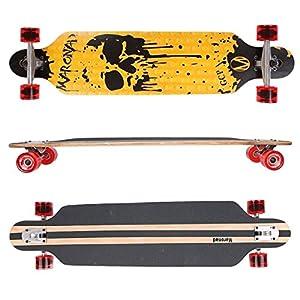 MARONAD ® Longboard DROP THROUGH Skateboard ABEC 11 LED Rollen Leuchtrollen HAWI