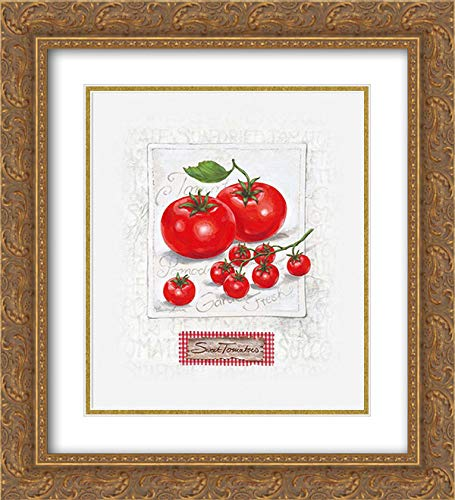 (Sweet Sunny Tomatoes 15x18 Gold Ornate Frame and Double Matted Art Print by Ancilotti, Claudia)